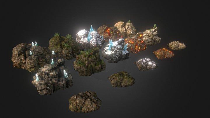Set de Piedras 3D Model