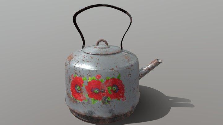 Old Soviet teapot 3D Model