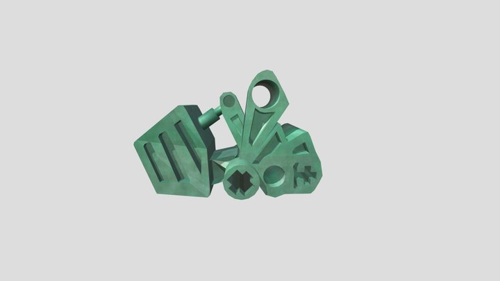 Bionicle Toa Mata Feet 3D Model