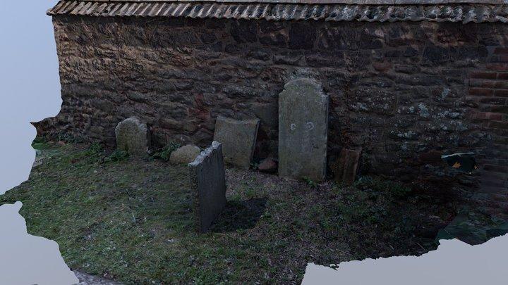 Graveyard photogrammetry test COLMAP and OpenMVS 3D Model