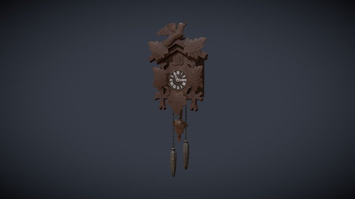 Vintage Cuckoo Clock 3D Model