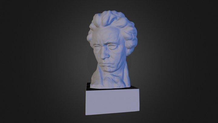 Beethoven Bust (3D printable) 3D Model