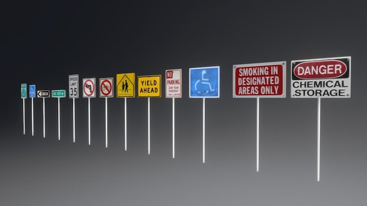 Sign package 3D Model