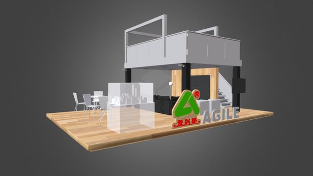 Exhibition Booth - AGILE - (demo) 3D Model
