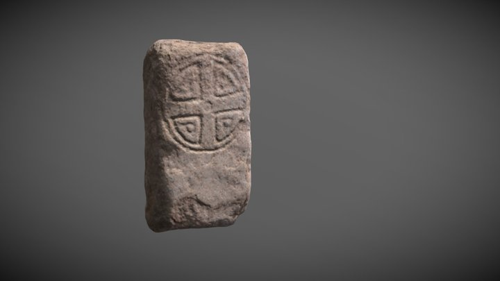 Tullich 16, Carved Cross Stone 3D Model