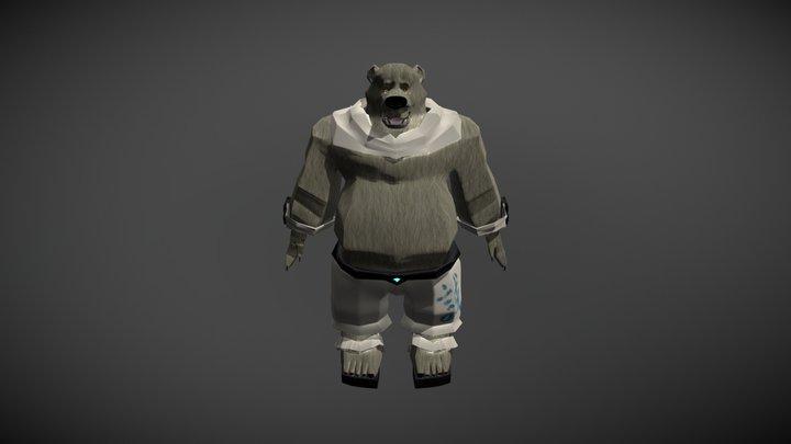 Space Bear Low 3D Model