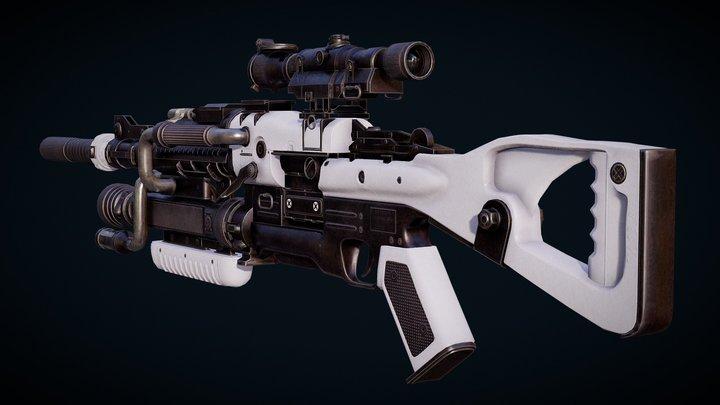 Sci-FI Sniper Rifle (Free) 3D Model