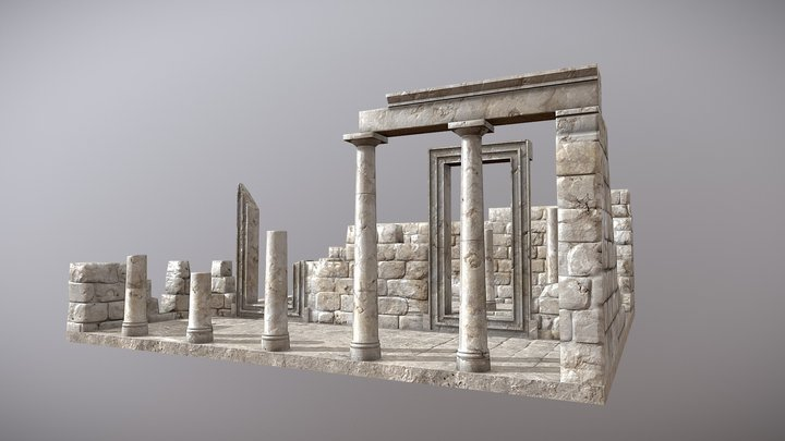 Temple of Demeter - Sangri 3D Model