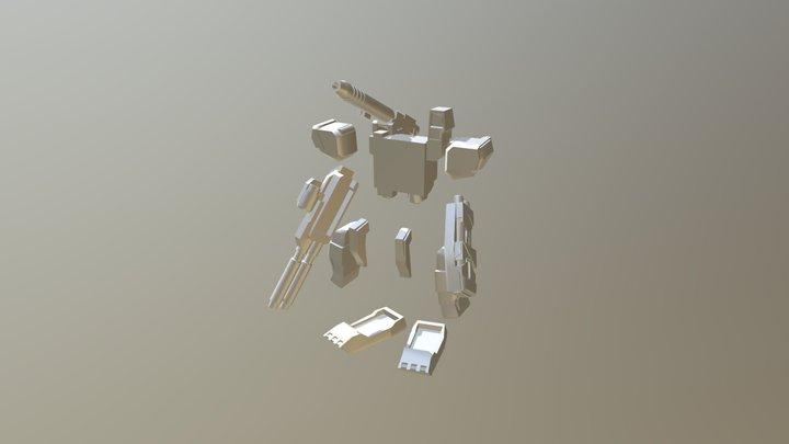 gundam collection 1/400 Fa78 Parts 3dshow 3D Model