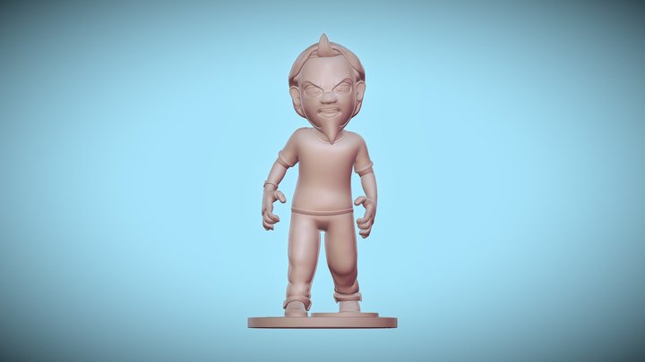 Angry Monday Figurine 3D Model