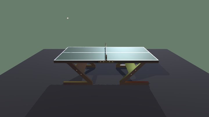 Table Tennis Ball Bounce 3D Model
