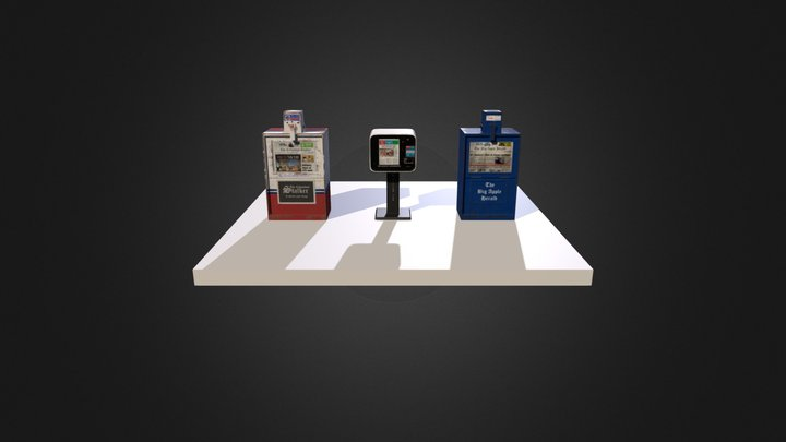 Newspaper Vending Machines 3D Model