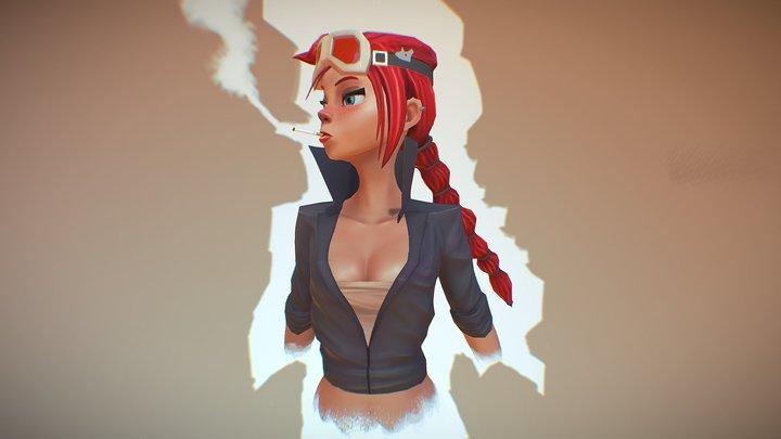Mouse Girl 3D Model