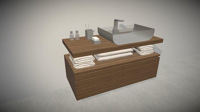 Washbasin Furniture 3D Model