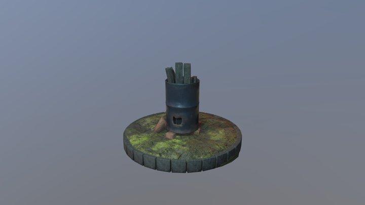 Burn Barrel 3D Model