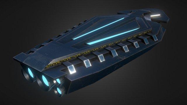 Dreadnought Spaceship 3D Model