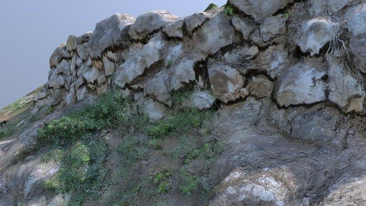 Mur Pedra Seca 3D Model