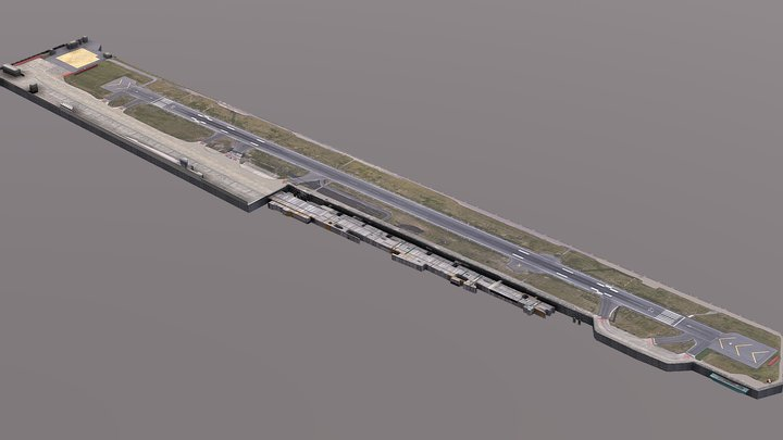 London City Airport 3D Model