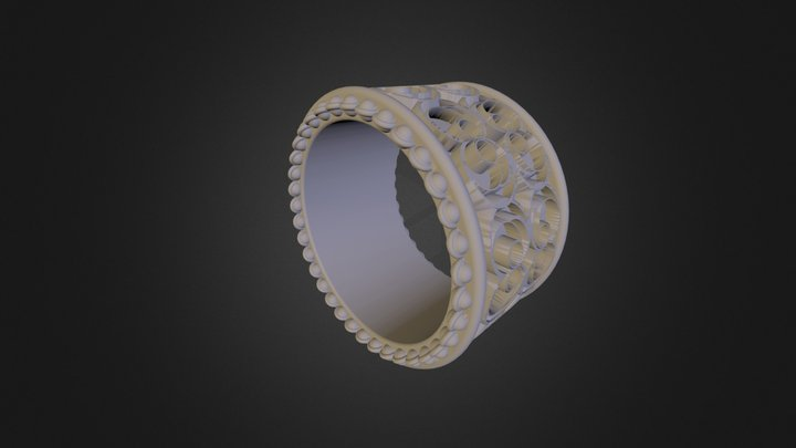 Turner Avigail - Yeman Ring  3D Model