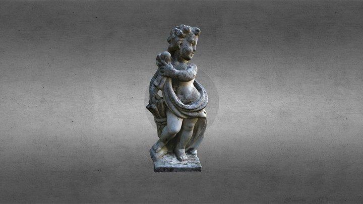 Statua di putto Villa Graziella Govone 3D Model
