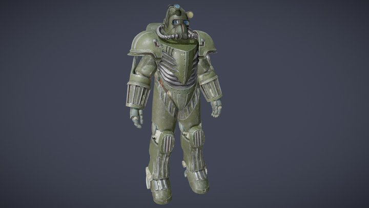 Fallout - T-47 Air Force Power Armor 3D Model