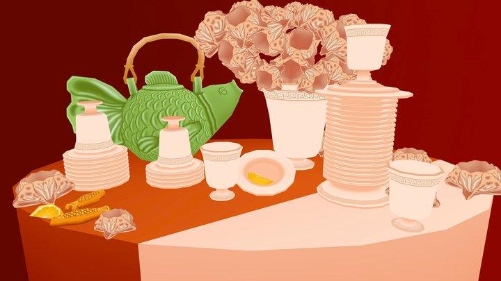 Apostolisian Tea Service [Redux] 3D Model