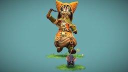 Steampunk Cat 3D Model