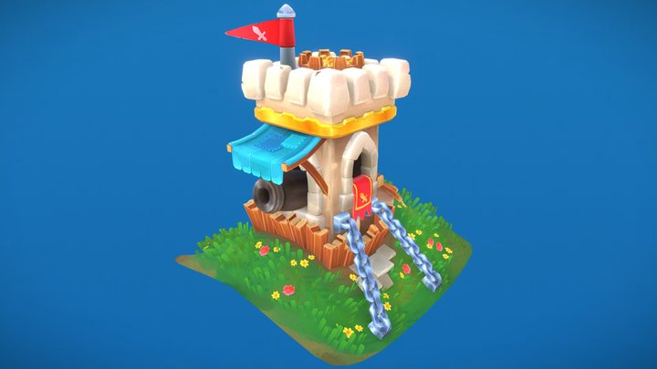 Chunky Castle 3D Model