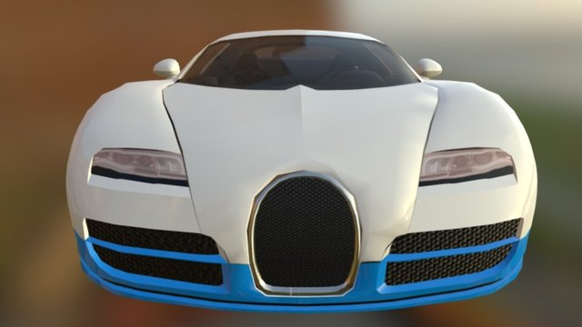 Ultra Car Sport - Bugatti Veyron 3D Model