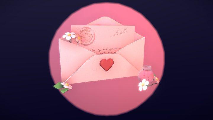 Love Letter 3D Model