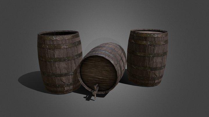 Worn Barrels 3D Model