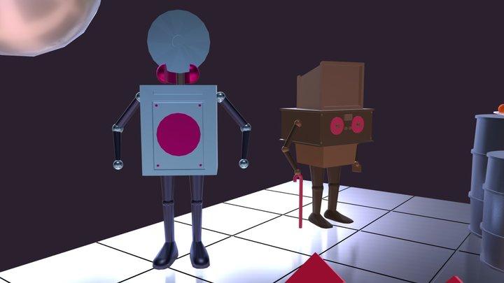Robot's Birtday 3D Model