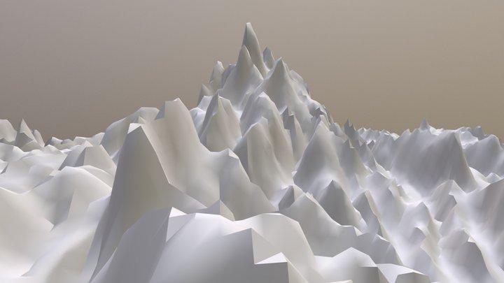 Thai-Laos Border Topographic Model 3D Model