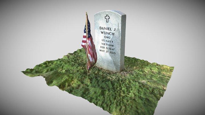 Veteran's Memorial Cemetery Headstone 3D Model