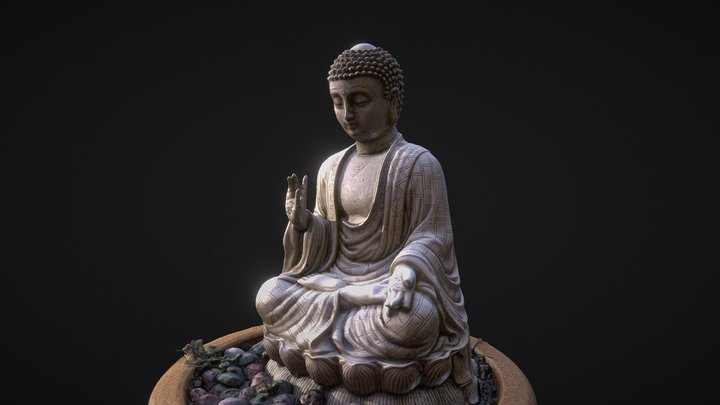 Bouddha statue photoscanned. 3D Model