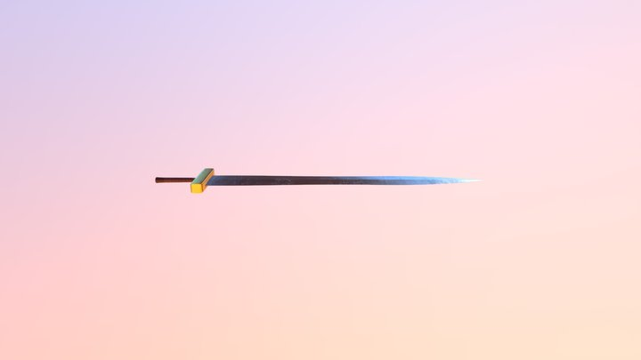 Fantasy Sword - Medium 3D Model