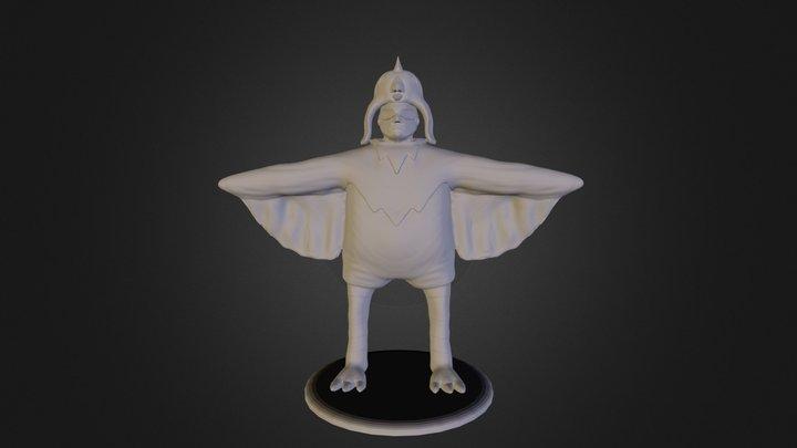 Birdman High Poly 3D Model