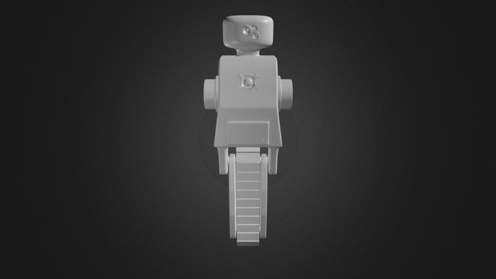 Robot Tracked Scout 3D Model