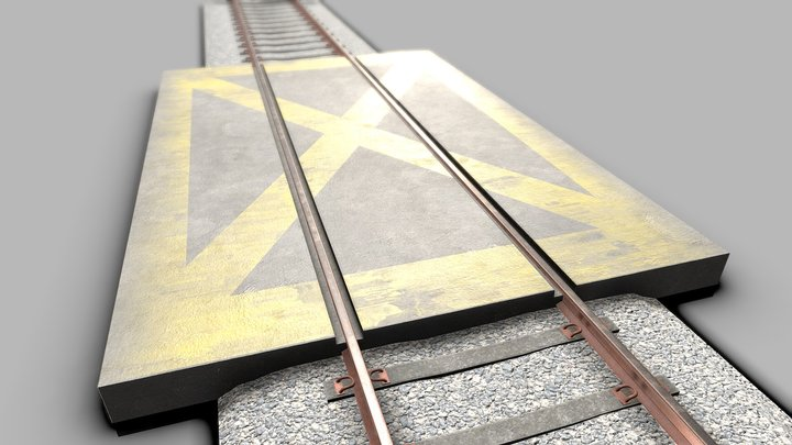 Railway Crossing 3D Model
