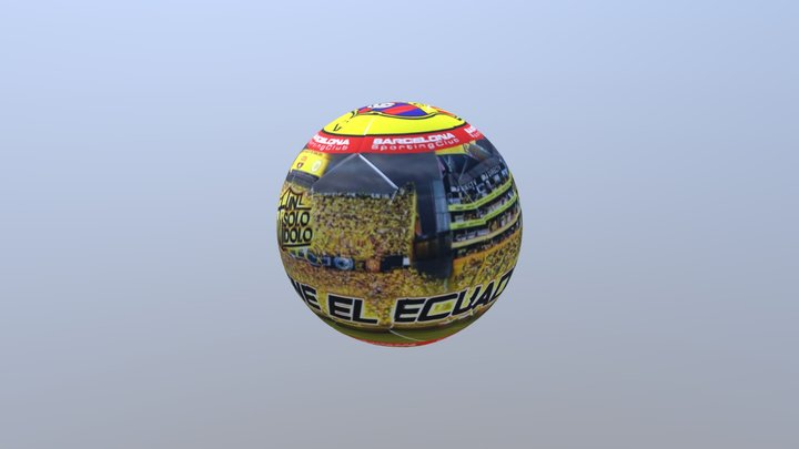 BALON BARCELONA ESTADIO 3D Model