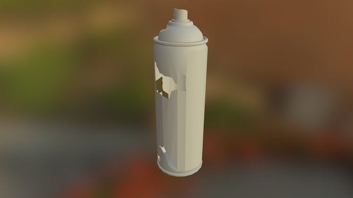 Rusted Spray Can 3D Model