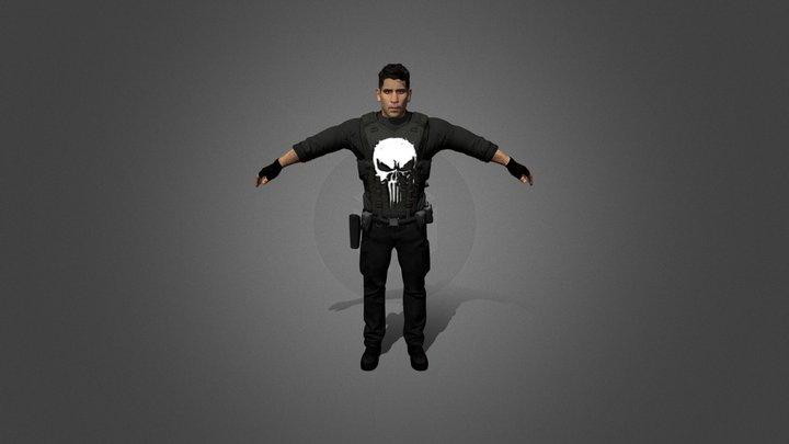 The Punisher (Vest-Version) 3D Model