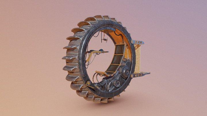 Desert monowheel 3D Model