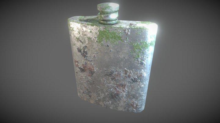 Old Flask 3D Model