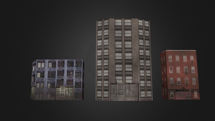 Ayesha's Game Assets: LowPoly Buildings 3D Model