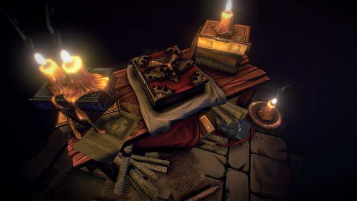 The Book Of Cain 3D Model