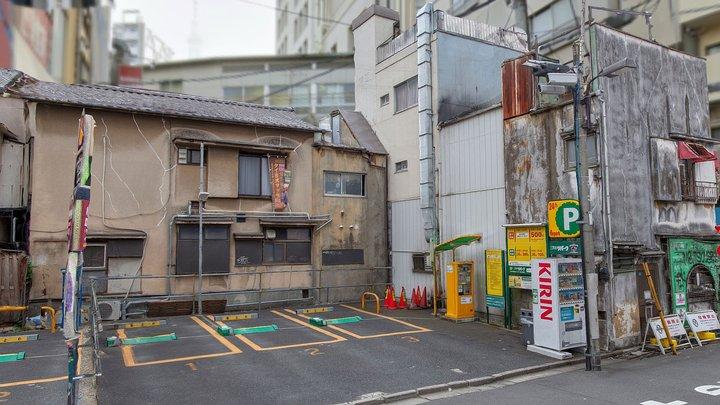 Asakusa old Corner Parking, Tokyo 3D Model
