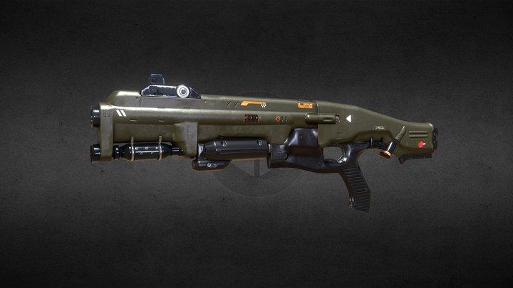 Combat Shotgun Doom 2016 - Study 3D Model