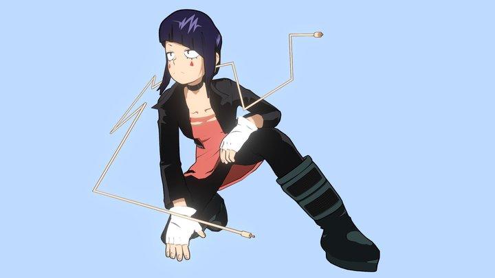 Boku no Hero Academia: Earphone Jack, Kyoka Jiro 3D Model