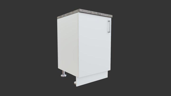 Simple Kitchen Cabinet 3D Model